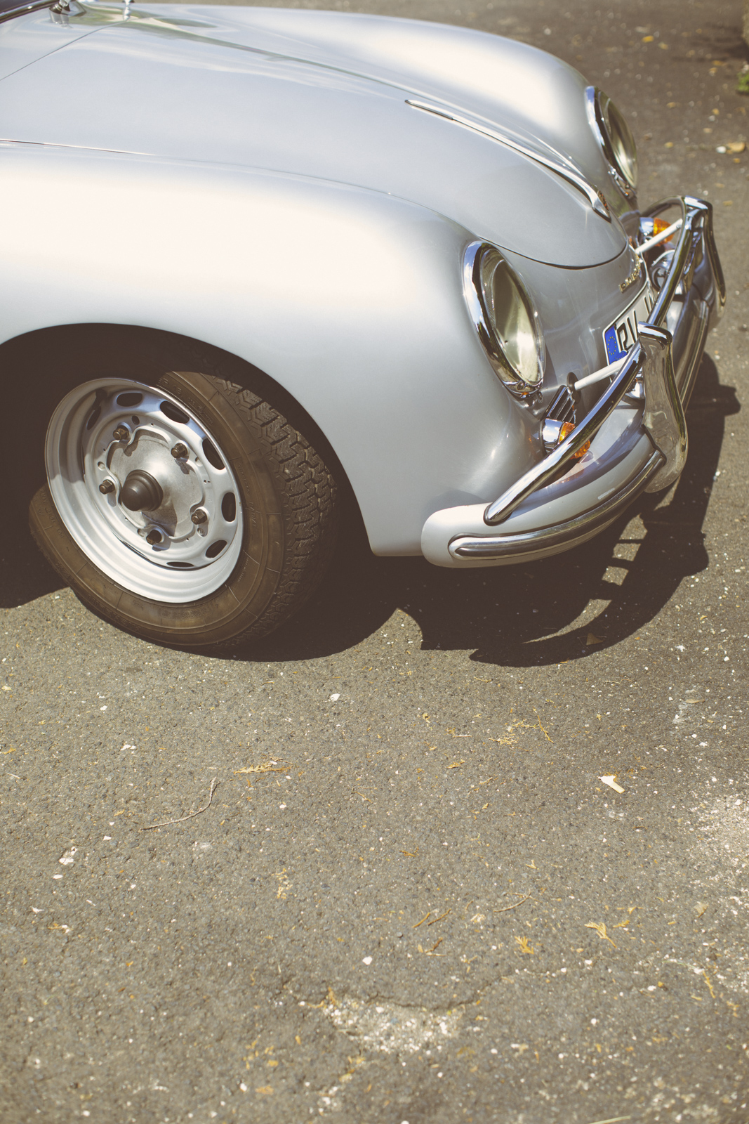 German silver iconic Porsche 356 A Coupé (1957)