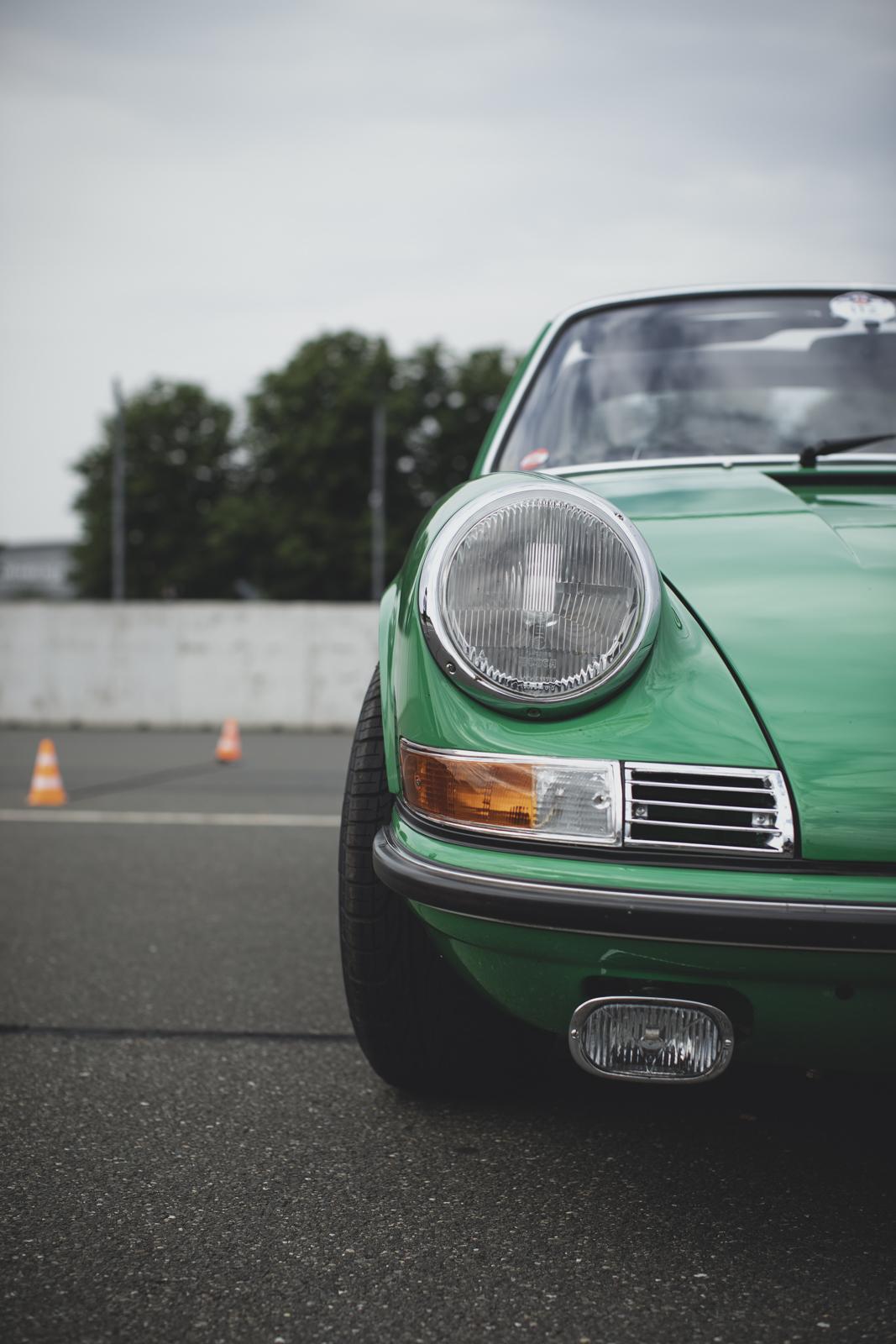 Green iconic Porsche 911 Targa